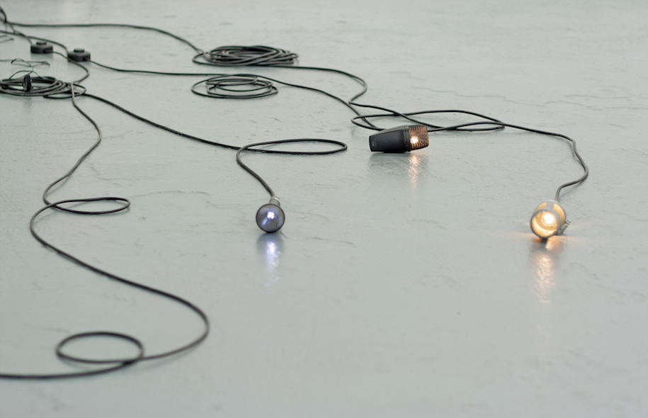 Albert Mayr, Installation view, light microphones, 2015